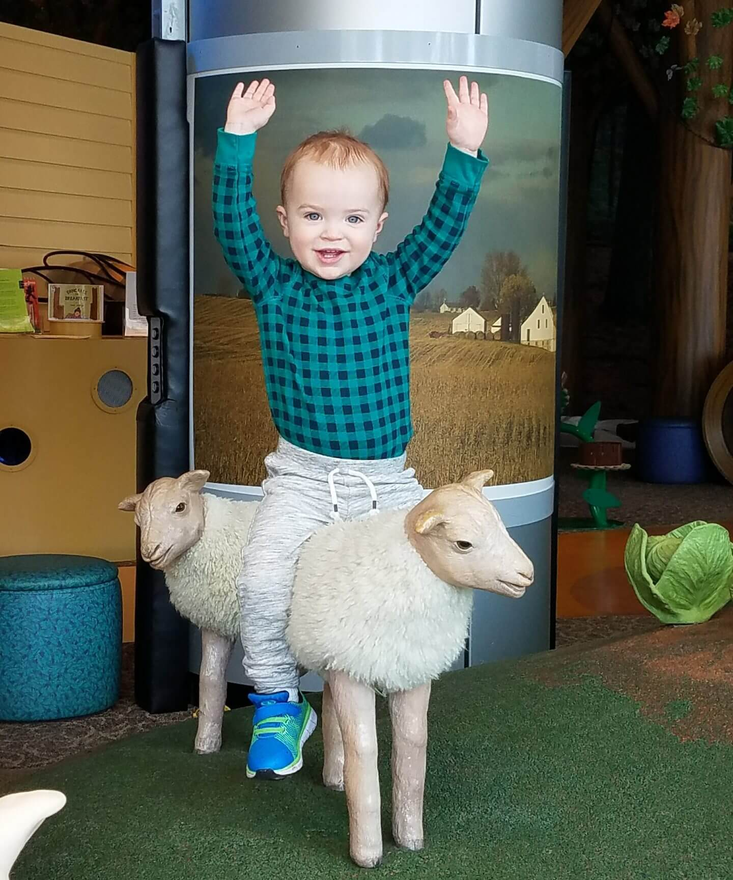 Riding Sheep PA Children's Museum