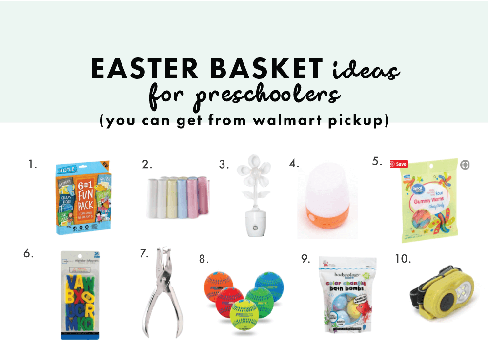 Easter Basket Ideas You Can Get From Walmart Pickup